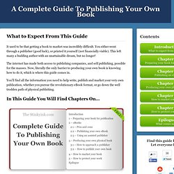The Stinkyink Guide to Publishing Your Book