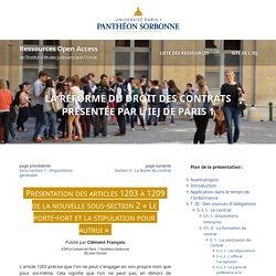 Sous-section «Le porte-fort et la stipulation pour autrui» de la réforme du droit des contrats (présentation)