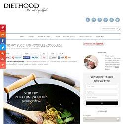 Stir Fry Zucchini Noodles Recipe