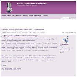 Le Moteur Stirling générateur de courant : Infos simples