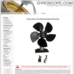 Vulcan Stove Fan (Stirling Engine Powered) - From Gyroscope.com -