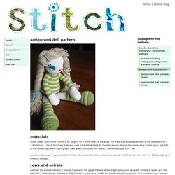 stitch » amigurumi doll pattern