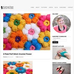 6 Petal Puff Stitch Flower