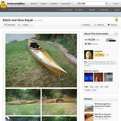 DIY Stitch And Glue Kayak