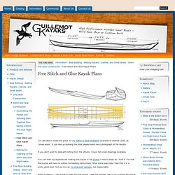 Free Stitch and Glue Kayak Plans