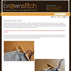 The Brown Stitch | Top-down Raglan Knitting | Underarm Divide Part 1