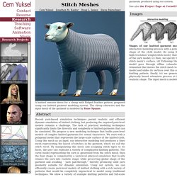 Stitch Meshes - Cem Yuksel