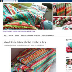 Mixed stitch stripey blanket crochet-a-long