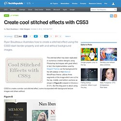 Create cool stitched effects with CSS3
