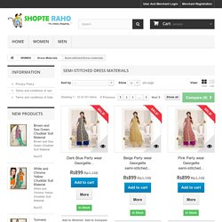 Semi Stitched Salwar Kameez Suits Online Shopping - Buy Semi Stitched Suits Online India