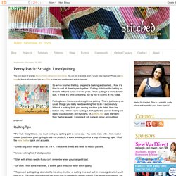 Penny Patch: Straight Line Quilting