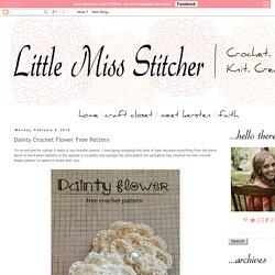 Dainty Crochet Flower Free Pattern