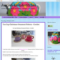 Justjen-knits&stitches: Tea Cup Christmas Ornament Pattern - Crochet