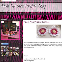 Flower Power Crochet Earrings
