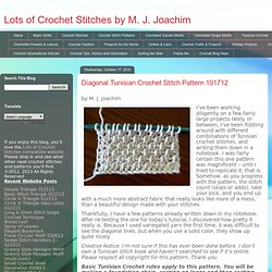 Diagonal Tunisian Crochet Stitch Pattern 101712