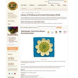 Knit Floral Block: Seventies Daisy