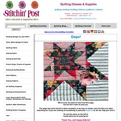 Free Quilt Patterns ~ Stitchin' Post