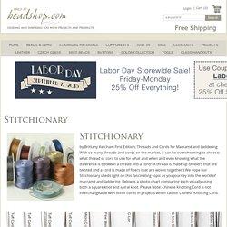 Stitchionary – Beadshop.com