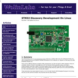STM32 Discovery Development on Linux