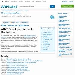 STM32 Nucleo ATT Hackathon -