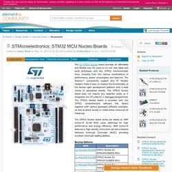 STMicroelectronics: STM32 MCU Nucleo Boards