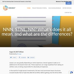 NNN, STNL, NN? What's does it all mean, and what are the differences? : NNN360