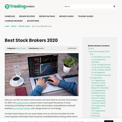 Best Stock Brokers 2019 - TradingBrokers.com