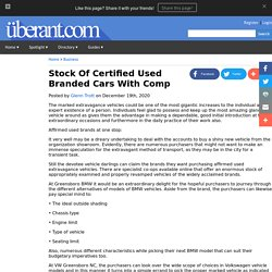 Stock Of Certified Used Branded Cars With Comp
