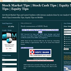 Stock commentary of HDFC Bank