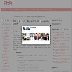 Top 10 Free Stock Image Resource Sites