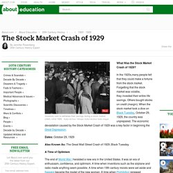 Stock Market Crash of 1929: Overview and History