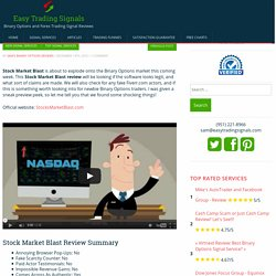 Stock Market Blast Review: The Shocking Truth We Found!!!