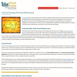 The Stock Market Game – Tools for Teaching — Value Stock Guide
