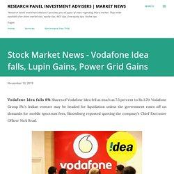 Stock Market News - Vodafone Idea falls, Lupin Gains, Power Grid Gains