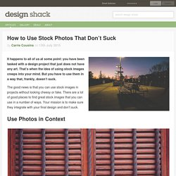 How to Use Stock Photos That Don't Suck