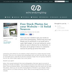 Free Stock Photos for your Website – 11 Solid Sources