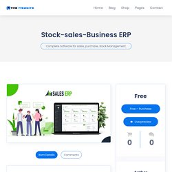 Complete Software for Sales, Purchase and Stock Management