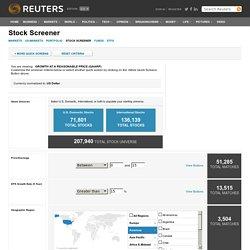 REUTERS - Stock Screener