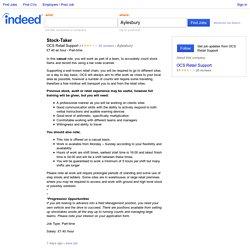 Stock-Taker job - OCS Retail Support