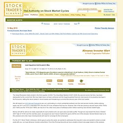 Stock Trader's Almanac - Investor Alert: May 13, 2010
