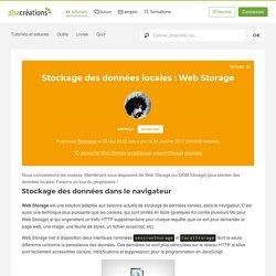 Stockage des données locales : Web Storage - Alsacreations
