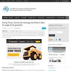 Dump Truck, service de stockage de fichiers dans le nuage (5 Go gratuits)