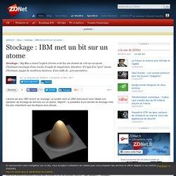Stockage : IBM met un bit sur un atome - ZDNet