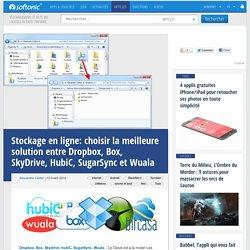 Stockage en ligne: choisir la meilleure solution entre Dropbox, Box, SkyDrive, HubiC, SugarSync et Wuala