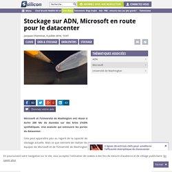 Stockage sur ADN, Microsoft en route pour le datacenter