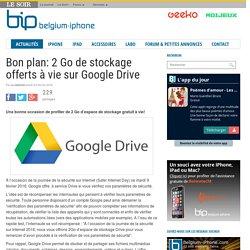 Bon plan: 2 Go de stockage offerts à vie sur Google Drive