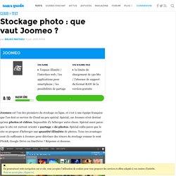 Stockage photo : que vaut Joomeo ? - Joomeo, ça vaut quoi en stockage photo ?