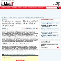 Stockage en réseau : NetApp et EMC survolent les débats, HP et HDS en font les frais