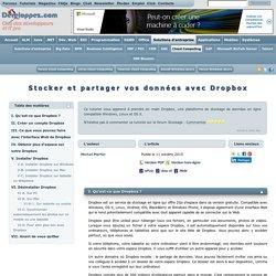 Stocker et partager vos données avec Dropbox