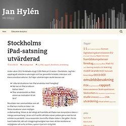 Stockholms iPad-satsning utvärderad